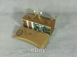 °Vintage sunglasses Ray-Ban B&L Aviator 5814 Changeables gray Lenses 70's