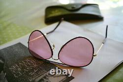 Year 1979! New VINTAGE BL RAY BAN changeable pink / Burundy leathers -NOS